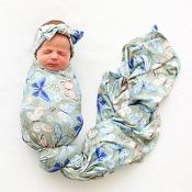 Posh Peanut Infant Swaddle And Headwrap Set - Lucy