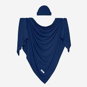 Posh Peanut Infant Swaddle And Headwrap Set - Sailor Blue
