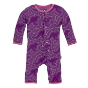 KicKee Pants Fitted Coverall - Starfish Kangaroo (ZIPPER) *CLEARANCE* (6-9 Months)