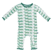 KicKee Pants Fitted Coverall - Natural Leopard