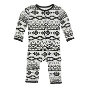 KicKee Pants Fitted Coverall - Mayan Pattern (SNAP)