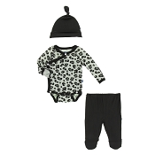 Kickee Pants Kimono Newborn Gift Set w/ Box - Aloe Cheetah *CLEARANCE*