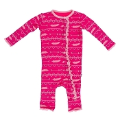 KicKee Pants Fitted Ruffle Coverall - Prickly Pear Southwest