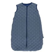 Kickee Pants Quilted Sleeping Bag - Navy with Dusty Sky Tides