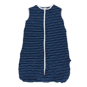 Kickee Pants Quilted Sleeping Bag - Tokyo Navy Stripe w/ Navy Lantern Festival