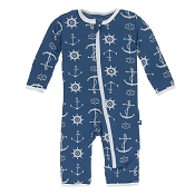 KicKee Pants Fitted Coverall - Twilight Anchor (ZIPPER)