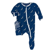 KicKee Pants Footie - Navy Dragonfly *CLEARANCE*