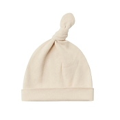 Quincy Mae Knotted Baby Hat - Natural (Size 0-6 Months)