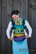 LennyLamb Ergonomic Wrap Conversion Carrier - Baby - Rainbow Safari  *CLEARANCE*