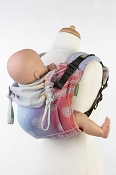 *LennyLamb Buckle Onbu Carrier - Rainbow Lace Silver *CLEARANCE*
