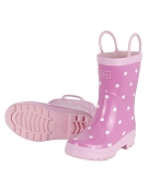 Hatley Rainboots - Pink with White Dots