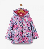 Hatley Girls Raincoat - Wintery Blooms