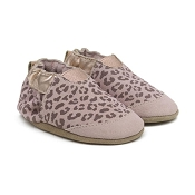 Robeez Animal Print Soft Sole Shoes - Blush