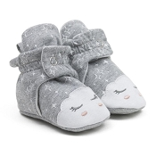 Robeez Snap Booties - Grey Cloud