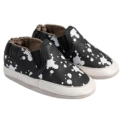 Robeez Liam Black/White Soft Soled Shoes