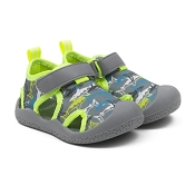 Robeez Remi Water Shoes - Grey Sharks