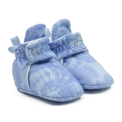 Robeez Snap Booties - Light Blue Tie Dye