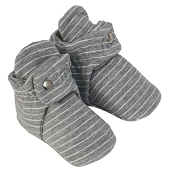 Robeez Snap Booties - Grey Stripe