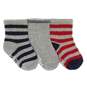 Robeez Socks - Daily Dave (Grey + Navy + Red)