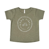 Rylee + Cru Good Vibes Basic Tee - Fern