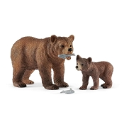 *Schleich Grizzly Bear Mother with Cub