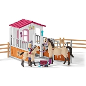 *Schleich Horse Stall with Arab Horses and Groom
