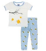 KicKee Pants Short Sleeve Pajama Set - Pond Bees