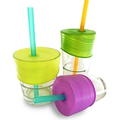 Silikids Siliskin Straw Top 3 Pack plus Bonus Silicone Straw