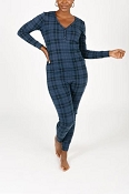 *Smash + Tess Wednesday Romper - Blue Tartan