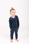 Smash + Tess Mini Present Romper - Blue Tartan (Size 12-13 Years)