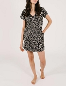 *Smash + Tess The Sunday Shorty Dress - Lexi Leopard