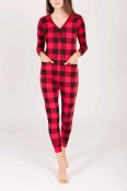 *Smash + Tess Wednesday Romper - Poinsettia Plaid