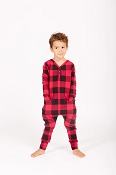 Smash + Tess Mini Present Romper - Poinsettia Plaid *CLEARANCE*