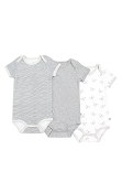 Snugabye Dream Short Sleeve Bodysuits - 3 Pack
