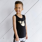 Little & Lively Tank Top - Sloth