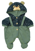 *Rubens Barn Doll - Teddy Bear Overalls for Rubens Baby
