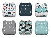Thirsties Natural Newborn All-in-One Cloth Diaper Snap 6-Pack