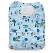 Thirsties NATURAL One-Size All-in-One Cloth Diaper - Hook & Loop
