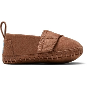 Toms Brown Suede Toddler Crib Alpargatas