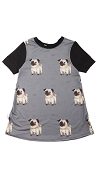 Coton Vanille Tunic - Gustave the Pug
