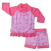 Twinklebelle Rash Guard Set - Flamingo