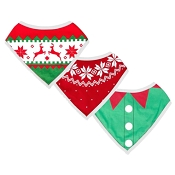 *Pearhead Ugly Sweater Christmas Bibs - Set of 3