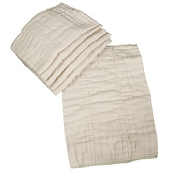 OsoCozy Indian Unbleached Cotton Prefold - Single