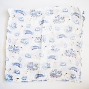 Loulou Lollipop  Luxe Muslin Swaddle  - Unicorn Garden