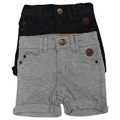 L&P Apparel French Terry Skateboard Walkshorts - Set of two - Heather Grey & Charcoal *CLEARANCE*
