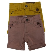 L&P Apparel French Terry Skateboard Walkshorts - Set of two - Rose & Mustard *CLEARANCE*