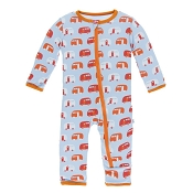 KicKee Pants Fitted Coverall - Pond Camper (ZIPPER)