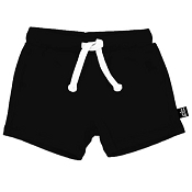 Whistle & Flute Bamboo Drawstring Shorts - Black  *CLEARANCE*