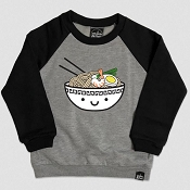 Whistle & Flute Ramen Two Tone Raglan Sweatshirt