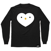 Whistle & Flute Kawaii Penguin Heart Long Sleeve T-Shirt